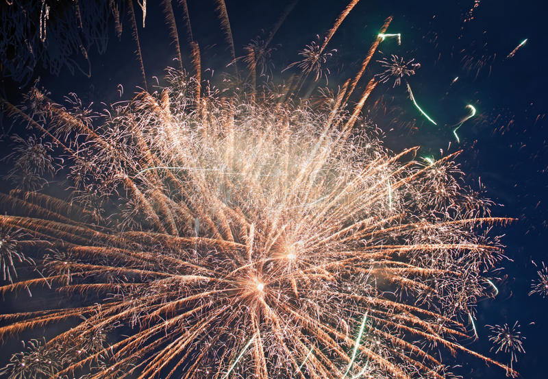 Fireworks for holiday celebrations stock photos