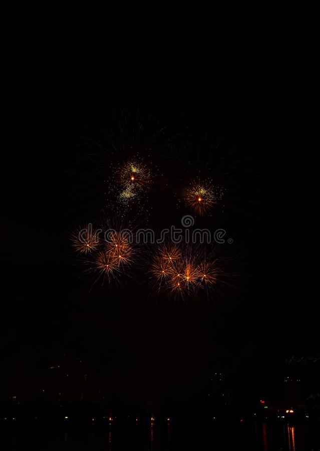 Fireworks in honor of Independence Day. Fireworks in honor of Independence Day stock photography