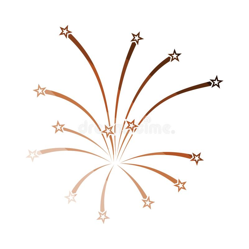 Fireworks icon. Flat color design. Vector illustration vector illustration