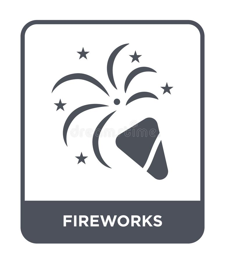 fireworks icon in trendy design style. fireworks icon isolated on white background. fireworks vector icon simple and modern flat vector illustration