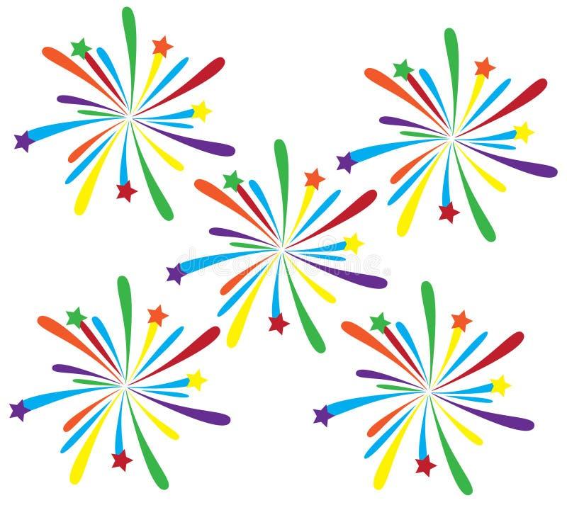 Fireworks. Illustration of colorful fireworks isolated vector illustration
