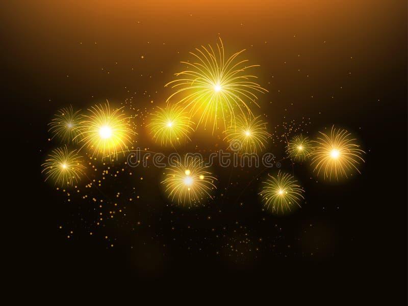 Fireworks. Illustration festivals, celebration vector illustration