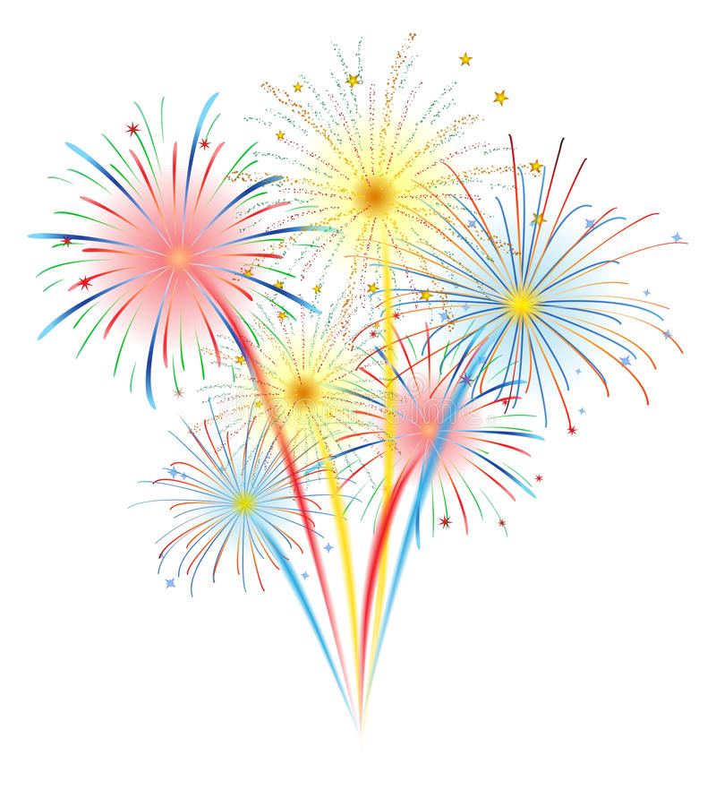 Fireworks vector. Fireworks illustration for new year festival