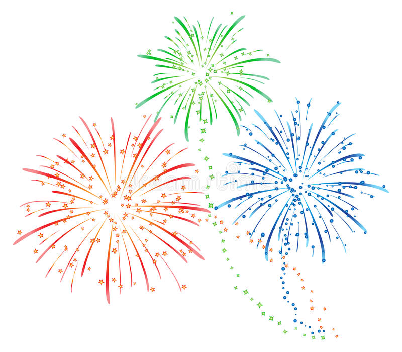 Fireworks vector royalty free illustration