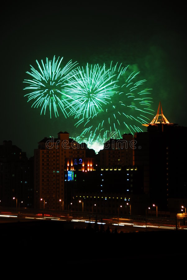 Free Fireworks In The City Stock Photography - 6633522