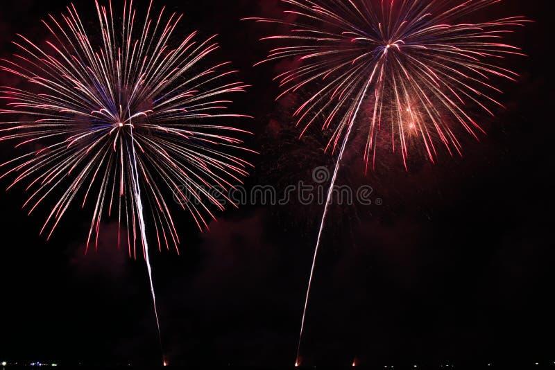 Fireworks. The international fireworks festival in pattaya, thailand royalty free stock image