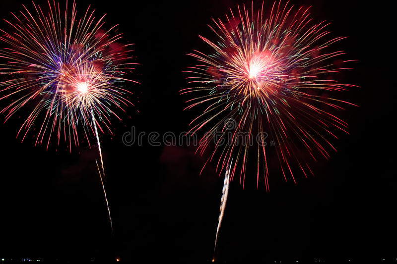 Fireworks. The international fireworks festival in pattaya, thailand royalty free stock images