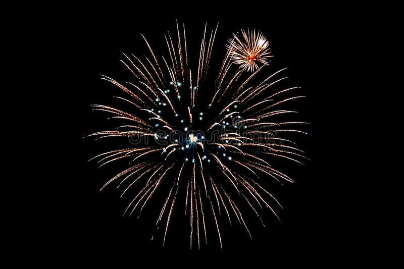 Fireworks isolated on Black background for cut out. royalty free stock images