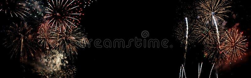 Fireworks isolated on black background royalty free stock image