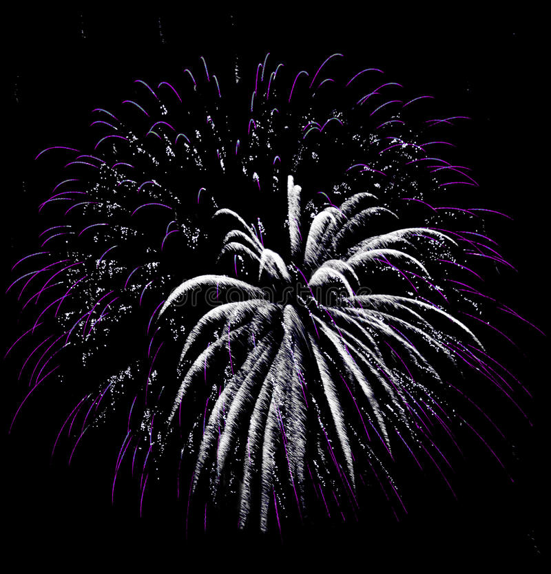Fireworks Isolated. Photo of an exploding fireworks in the night sky during a July 4th holiday celebration. Very easy to place in your night sky image. Add the royalty free stock photography