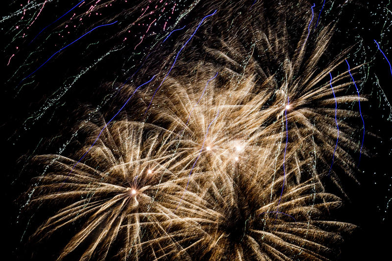Fireworks. Light up the night sky stock image