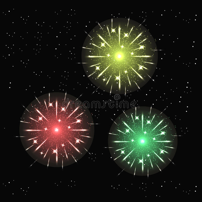 Fireworks light up the sky with dazzling display royalty free illustration