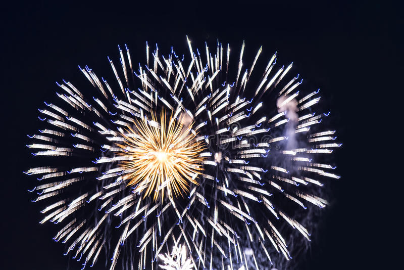 Fireworks light up the sky. New Year. Christmas royalty free stock photo