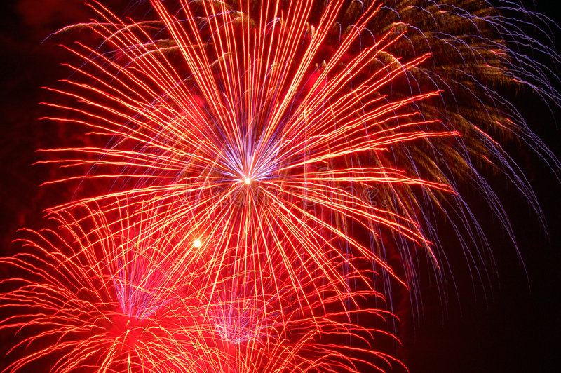 Download Fireworks Lighting The Skies Stock Image - Image: 5549231