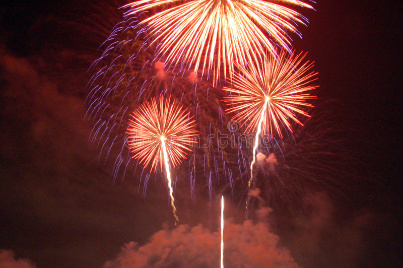 Download Fireworks Lighting Up The Sky Stock Photo - Image: 3918784