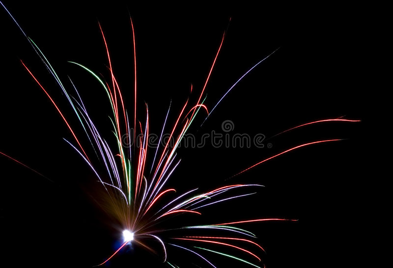 Fireworks Lighting up the Sky stock image