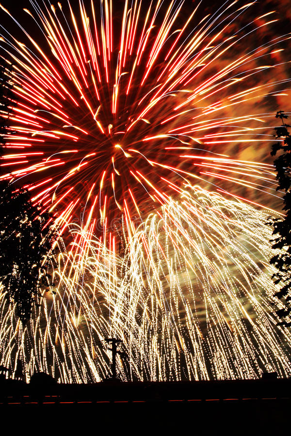 Download Fireworks Lights Explosions Red White Blue Stock Image - Image: 25663745