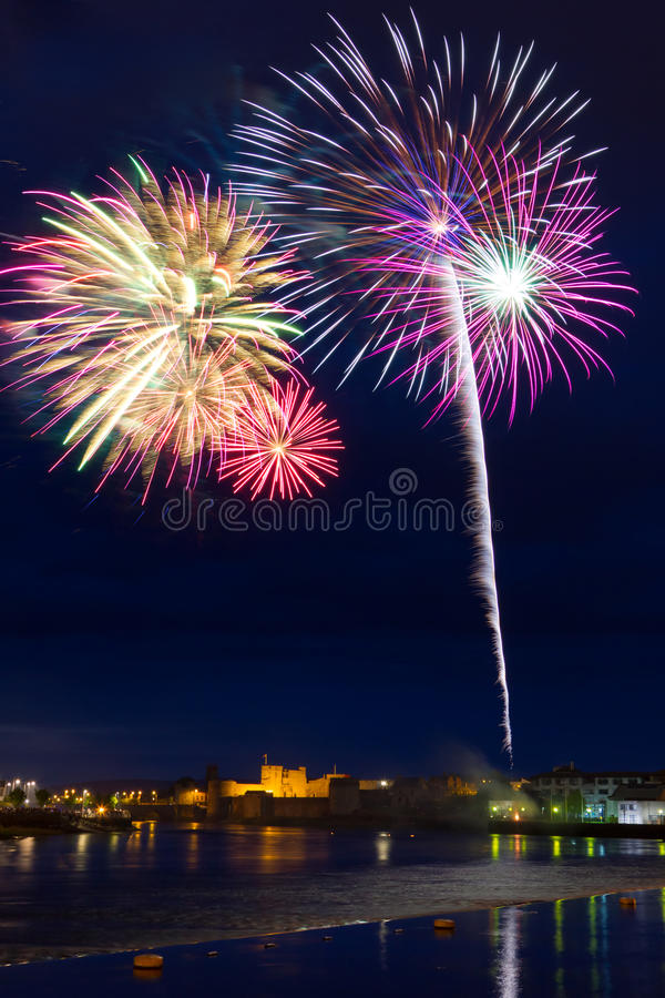 Download Fireworks In Limerick City, Ireland Stock Photo - Image: 24920230
