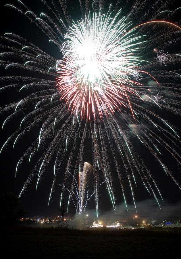 Download Fireworks At A Local Festival Stock Photo - Image: 14289716