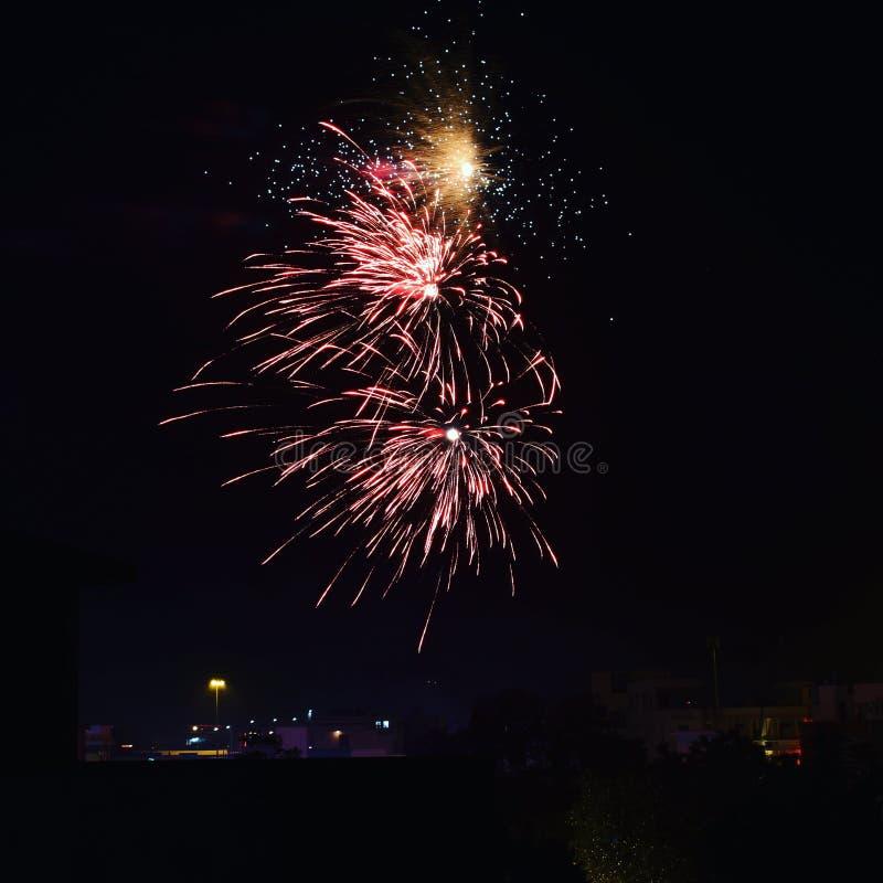 Fireworks Long Exposure shots stock photo