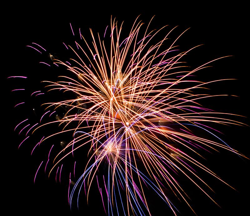 Fireworks at Luray Caverns stock image