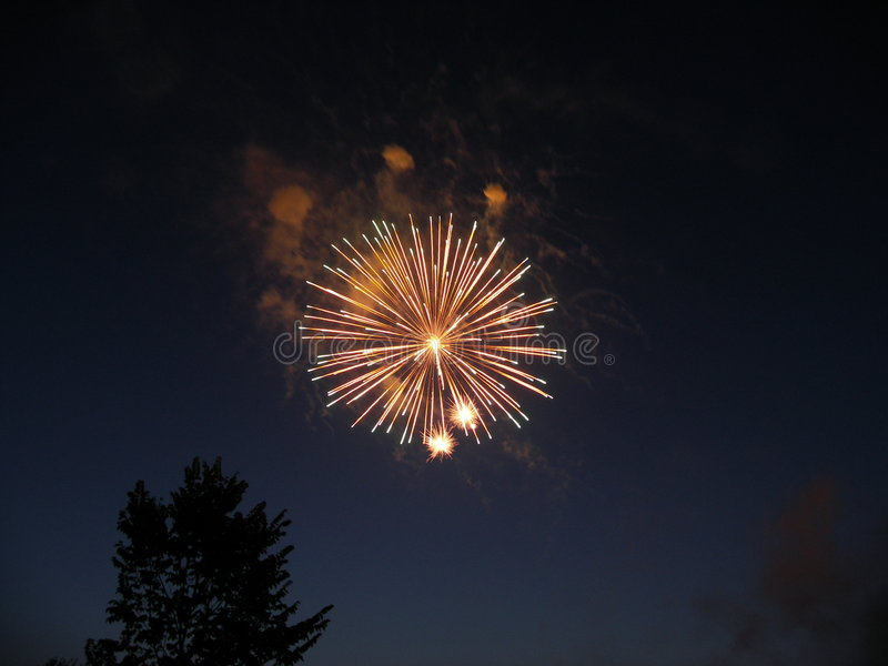 Fireworks at Midnight royalty free stock images