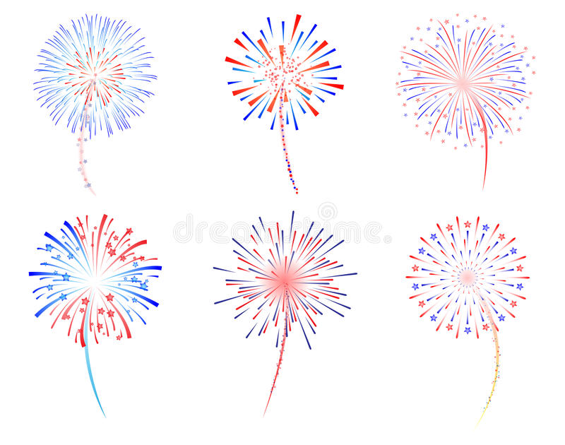 Fireworks. New year celebration illustration