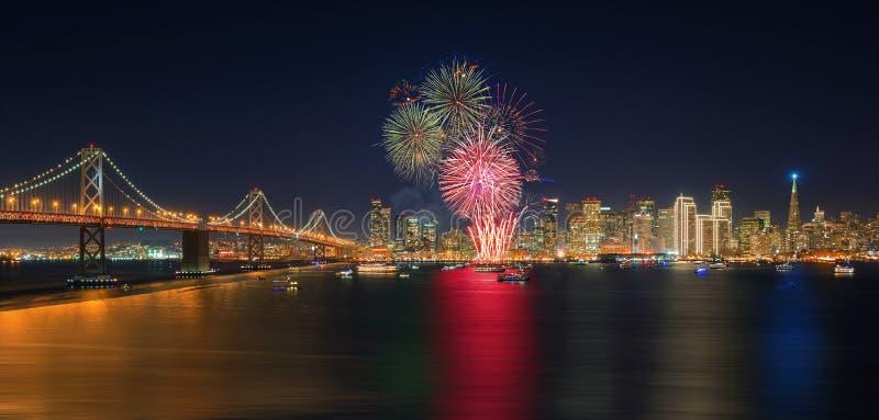 Fireworks` New Year in San Francisco, California, USA. Fireworks` New Year in San Francisco, California,USA royalty free stock photos