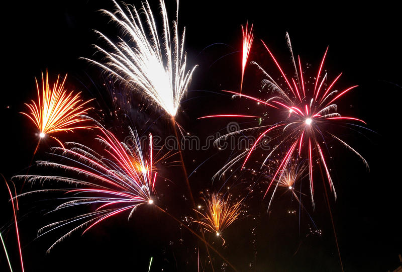 Fireworks New Years royalty free stock photo