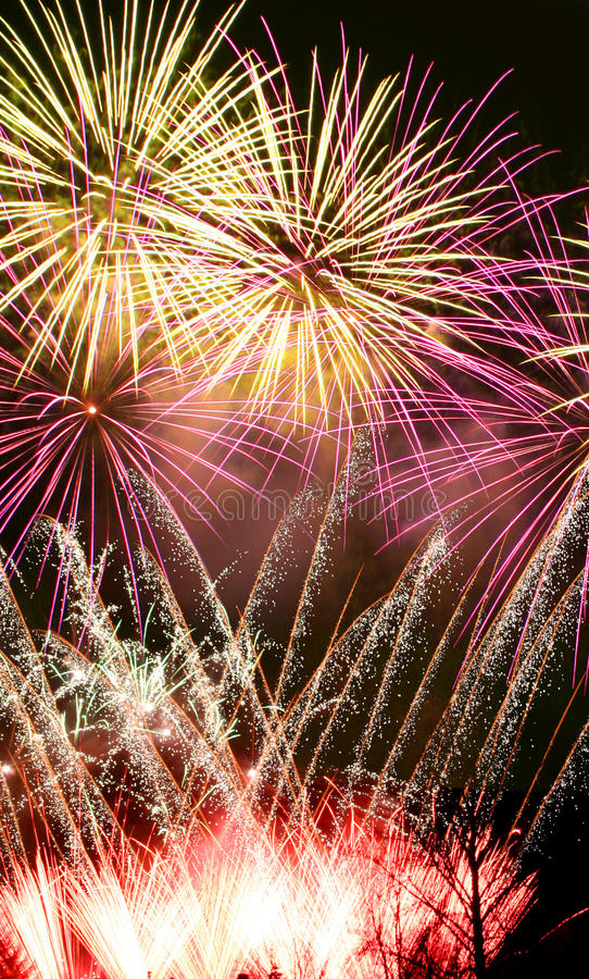 Fireworks night stock photos