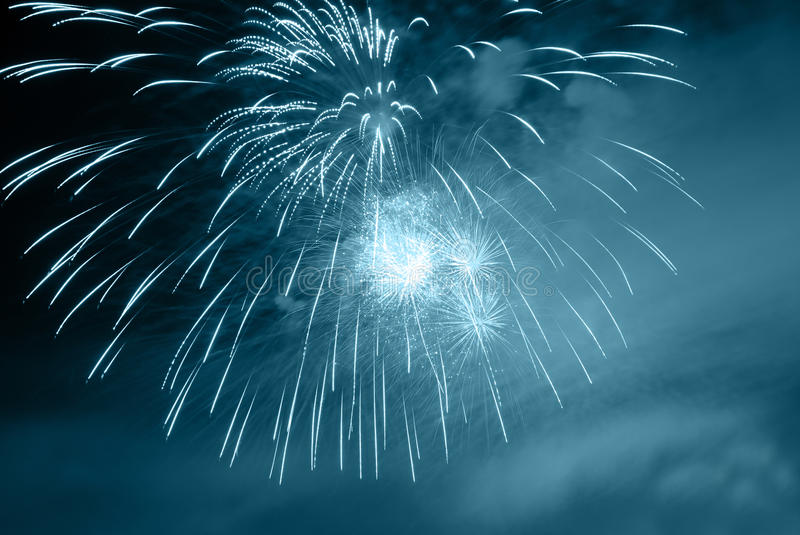 Fireworks in the night royalty free stock images