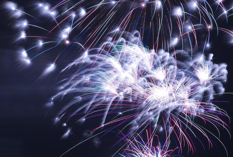 Download Fireworks at Night stock photo. Image of background, fire - 25162696