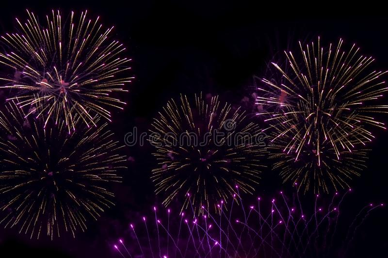 Fireworks Night Black background wallpapers royalty free stock photos