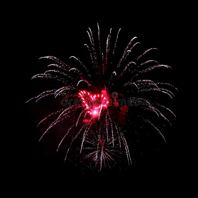 Fireworks. Night fireworks different colors on a black background. Can be used for mounting royalty free stock photo