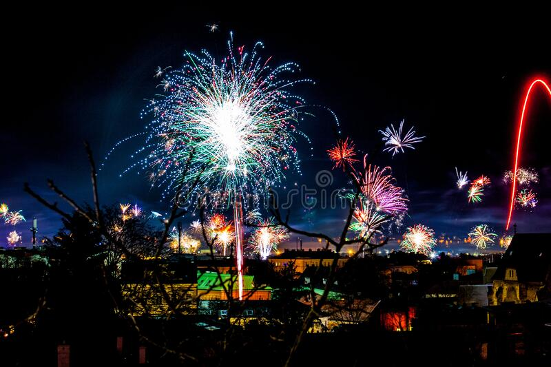 Fireworks In The Night Free Public Domain Cc0 Image