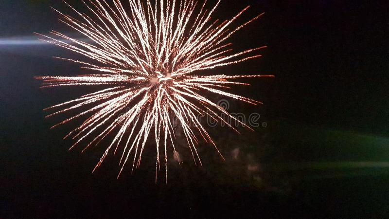 Fireworks at night. Fireworks night explosion bright dark royalty free stock images