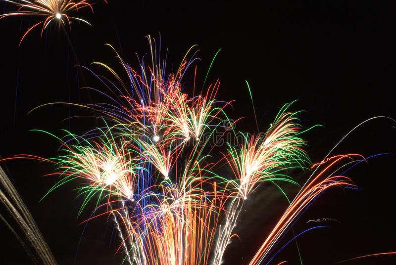 Fireworks night stock photos