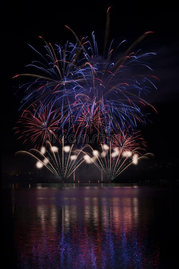 Free Fireworks On The Water - Ignis Brunensis Royalty Free Stock Photos - 50221938