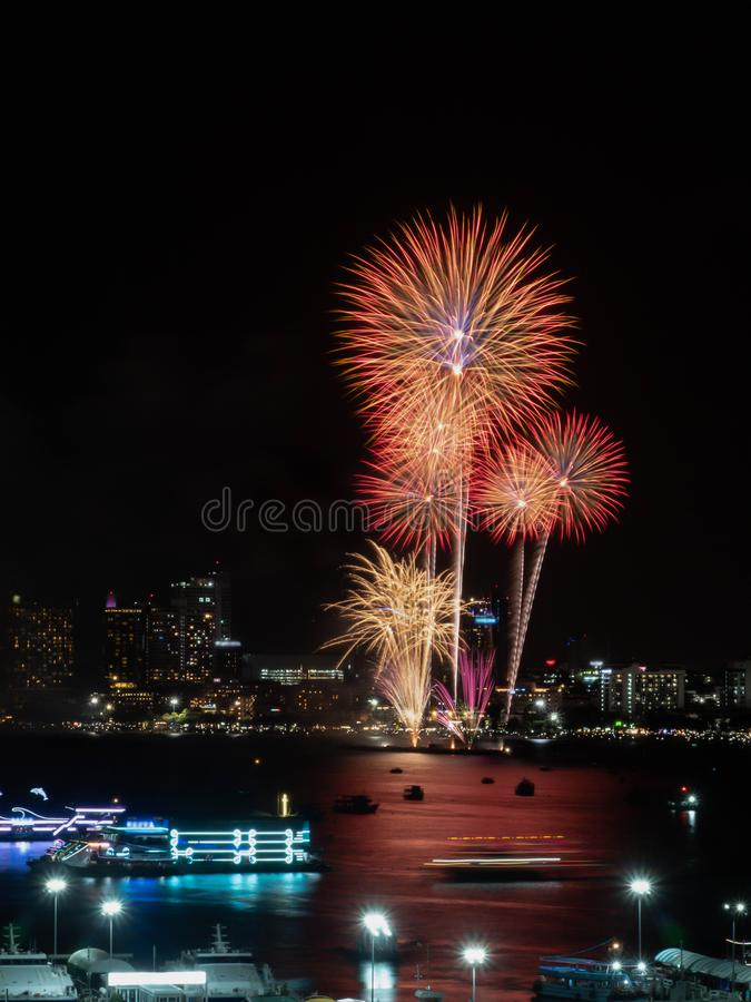 Fireworks sign of cristmas/ New Year eve and special festival. stock photo