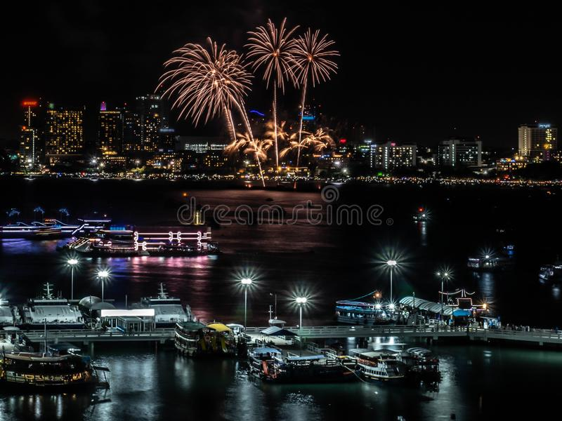 Fireworks sign of cristmas/ New Year eve and special festival. stock photos