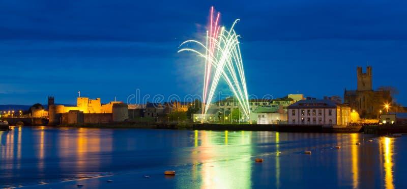 Download Fireworks Over King John Castle In Limerick Stock Photo - Image: 24920034