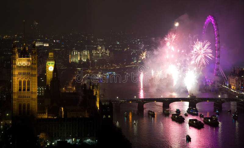 Download Fireworks Over London Eye And Westminster Editorial Stock Photo - Image: 17623293