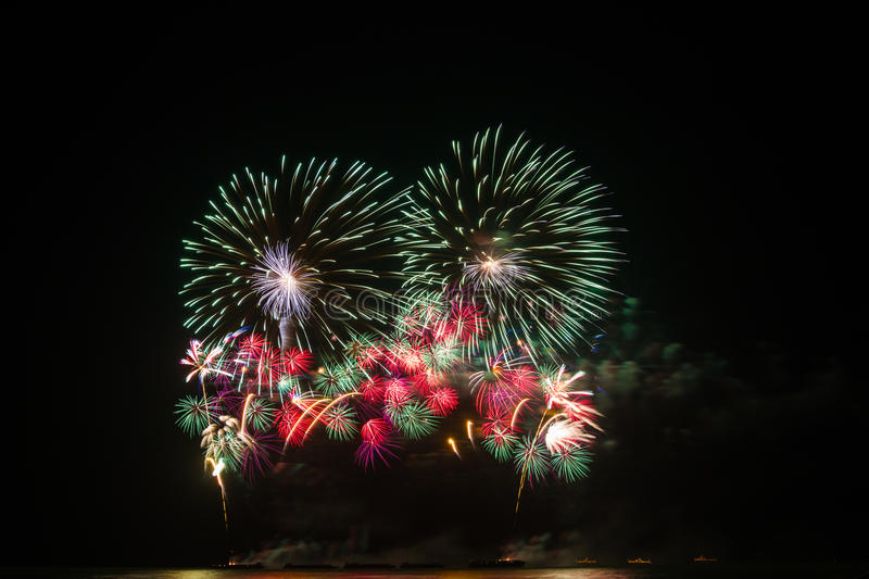 Download Fireworks over night sky stock photo. Image of international - 36431798