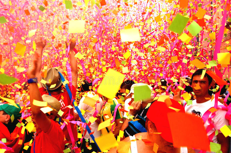 Fireworks of paper stock photography