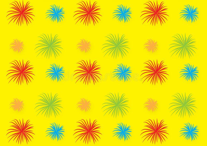 Fireworks pattern design wallpaper for backgrounds. Fireworks pattern design wallpaper for background use on designs or screen display stock illustration