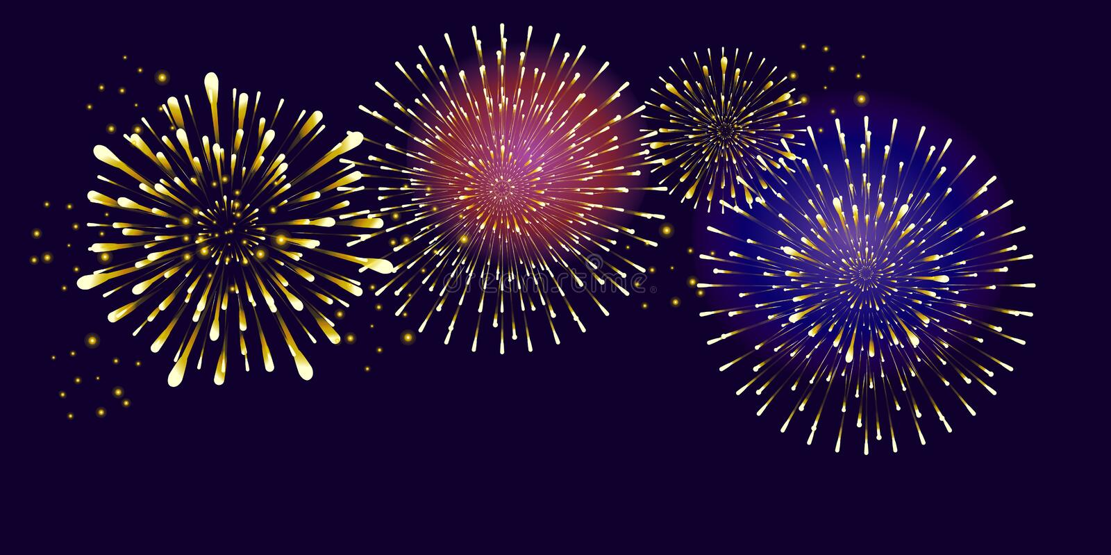 Fireworks royalty free illustration