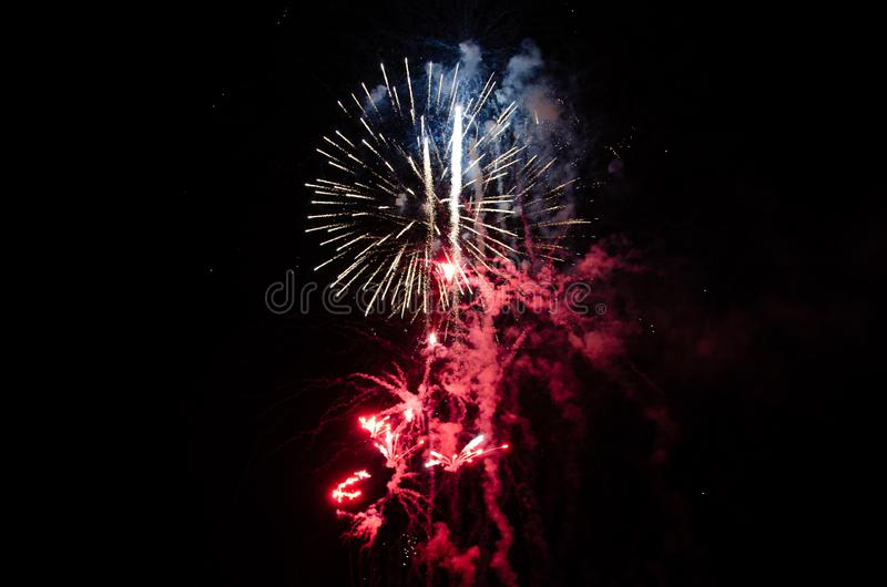 Fireworks in Red, White, and Blue royalty free stock photography