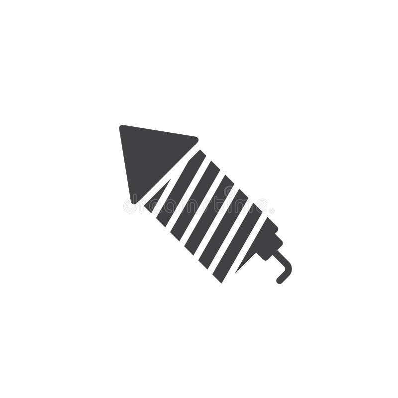 Fireworks rocket icon vector. Filled flat sign, solid pictogram isolated on white. Symbol, logo illustration vector illustration