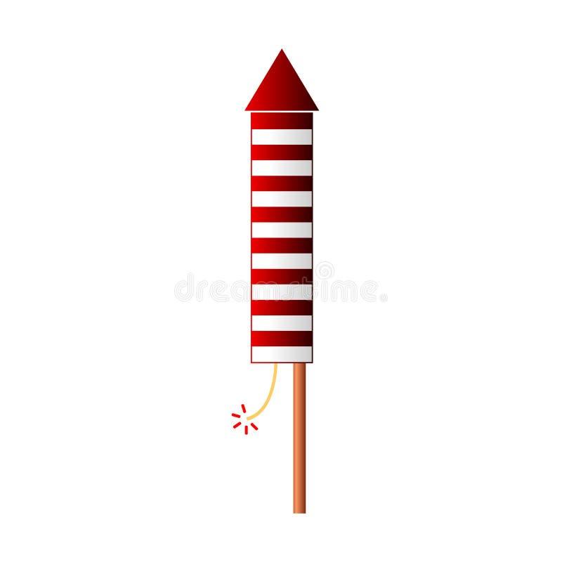 Fireworks rocket icon. On white background. Vector illustration stock illustration
