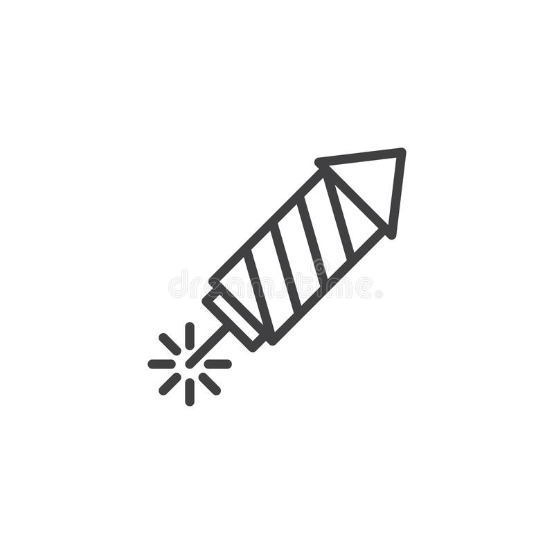 Fireworks rocket outline icon royalty free illustration